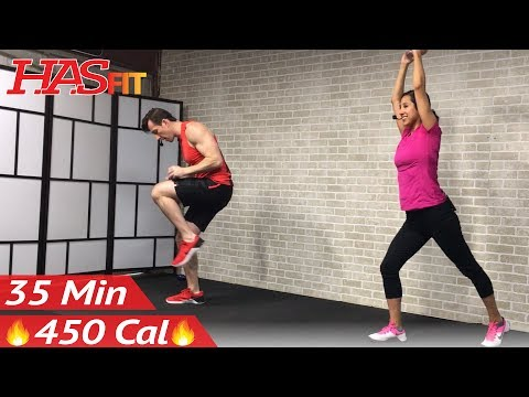 35 Min Standing Abs & Low Impact Cardio Workout for Beginners - Home Ab & Beginner Workout Routine