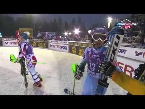 Tina Maze Win Slalom Levi