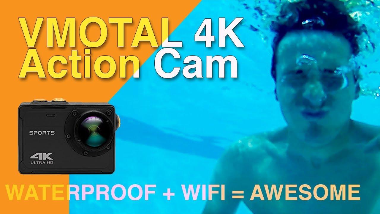 vmotal 4k sports action cam unboxing video test. Black Bedroom Furniture Sets. Home Design Ideas