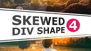Responsive Skewed Background using Border - Razor Slanted Div Shape - Pure CSS Tutorial