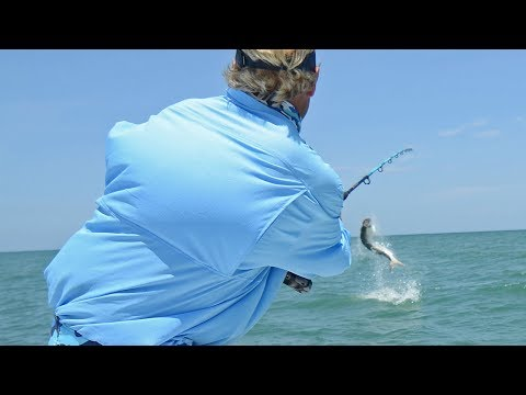 Tarpon Fishing with bobbers off of Tampa Bay Florida