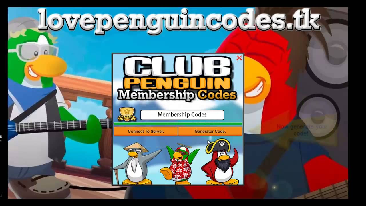 club penguin free membership codes unused
