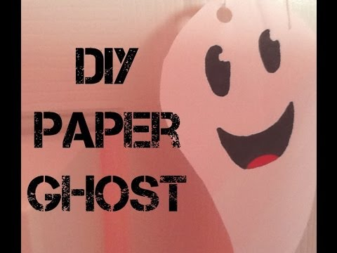 How to Make a Paper Ghost Decoration (for Halloween)