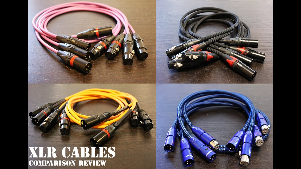 xlr cables comparison review mogami audioquest canar doovi. Black Bedroom Furniture Sets. Home Design Ideas