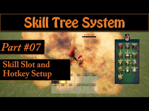 [Eng] Ability/Skill Tree System: Creating the Skill Slot and Adding a Hotkey Bar #07
