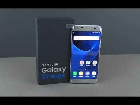 Samsung Galaxy S7 Edge Silver Titanium Unboxing & Firstlook