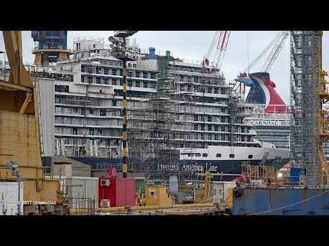 NIEUW STATENDAM | special views under construction at shipyard FINCANTIERI | 4K-Quality-Video