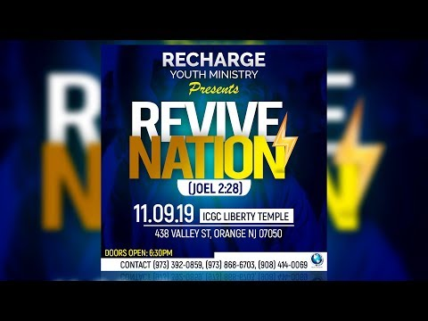 How To Design CHURCH FLYER For Youth Revival | Photoshop Tutorial