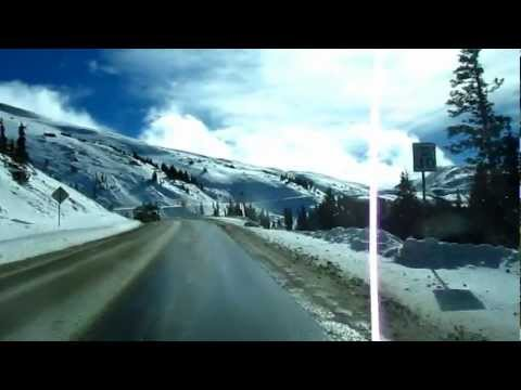 Driving to the summit of Loveland Pass Continental Divide Colorado (US 6 westbound)