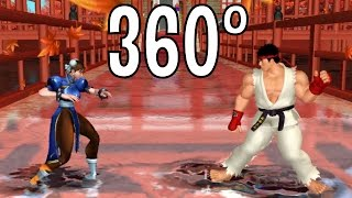 Street Fighter VI (360 Degree Video) Ryu vs Chun Li Fight