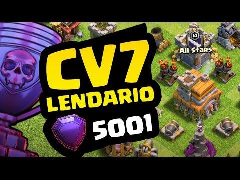 INCRIVEL! PRIMEIRO CV7 NA LIGA LENDÁRIA! CLASH OF CLANS
