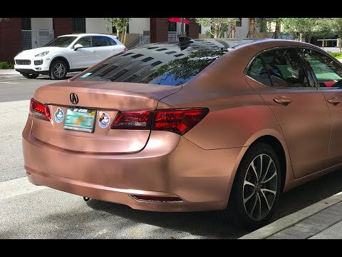 Day 3 Wrapping Acura Tlx In Satin Rose Gold Roof Wrap