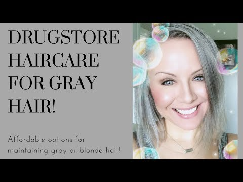 Drugstore Haircare For Gray (or Blonde) Hair!