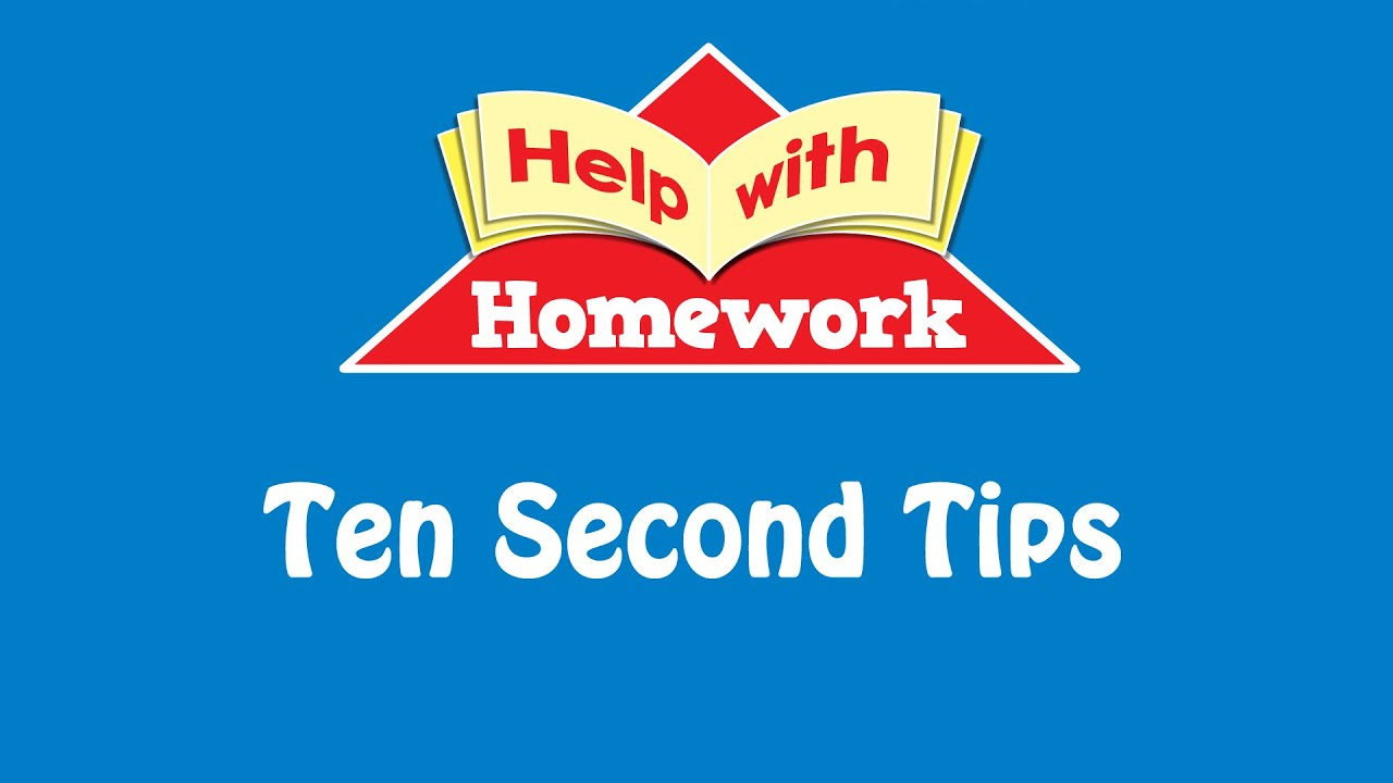 Homework help youtube