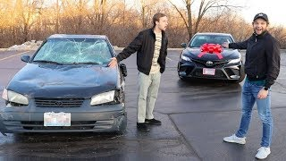 Download Destroying Friends Car and Buying Him a New One! Mp3 and Videos