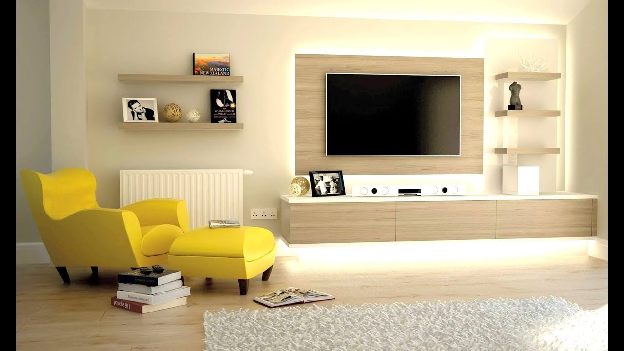 Lovely Modern TV Unit_ LCD Panel_ TV Cabinet _TV Stand Ideas  Plan N Design