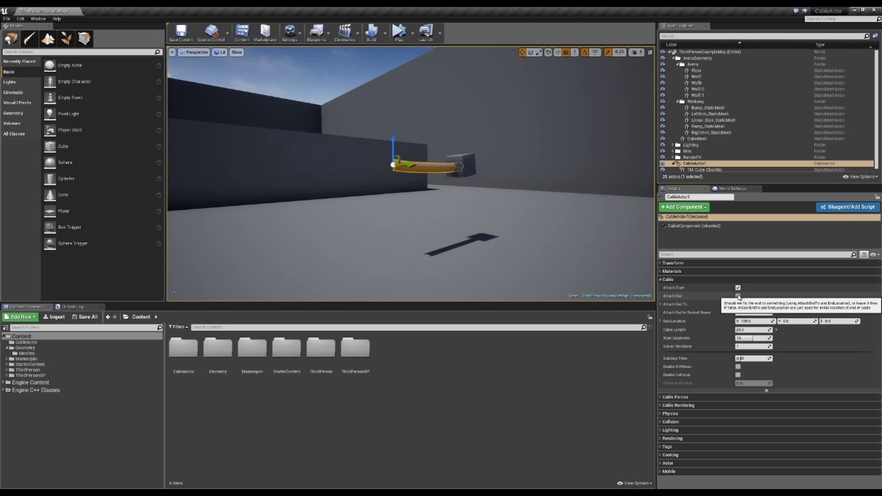 Cable Component | Unreal Engine Documentation