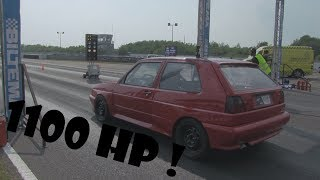 1100 Hp golf 2 Rally with an Vr6 swap racing at DHB 2018