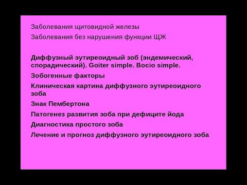 Щитовидная железа 4. Диффузный эутиреоидный зоб. Goiter Simple. Bocio Simple.