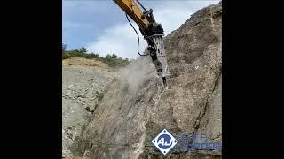Www.AJCE.eu AB810M (2000kg) Hydraulic Hammer Rockbreaker Breaker @work In Spain
