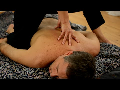 Ayurvedic Yoga Massage, ASMR, Full Body Part 1: Back, Neck, Arms