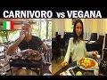 VEGANO STAMMI LONTANO !!! scontro e insulti  fra carnivori e vegani