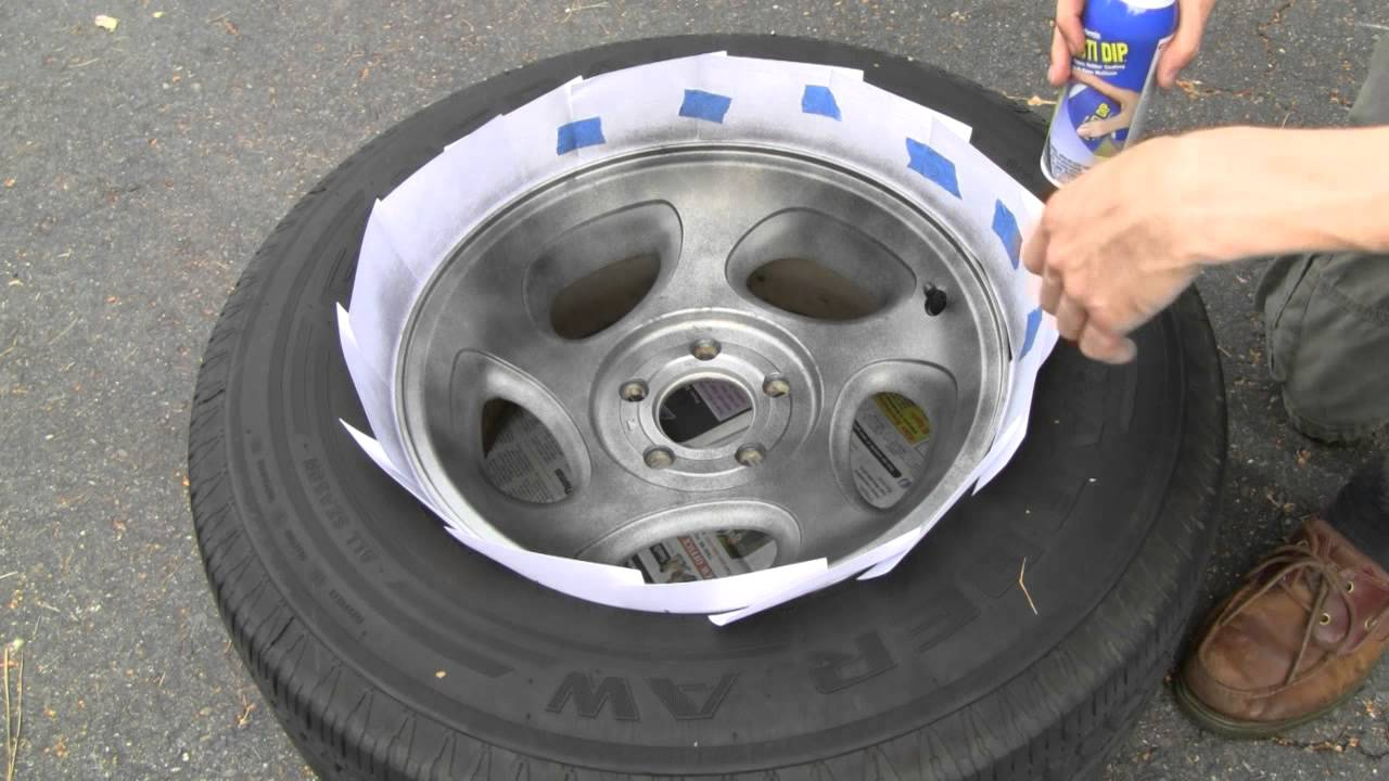 How To Black Out Rims With Plasti Dip Youtube