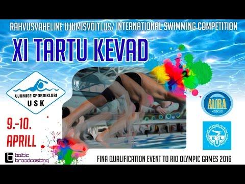 """1st DAY / 9. april 2016 / Rahvusvaheline ujumisvõistlus """"Tartu Kevad 2016"""""""