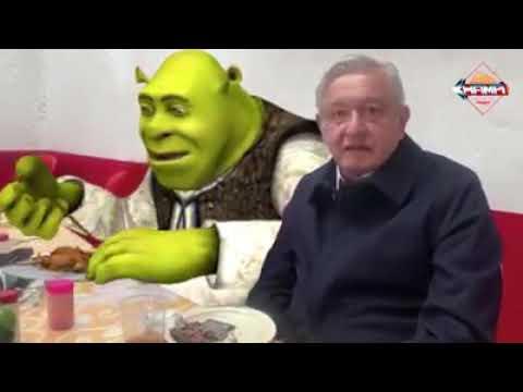 Amlo Invita A Shrek A Comer Barbacoa.