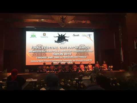 Ratoh Jaroe Mts Jamiat Kheir At Festival Tari Ratoh Jaroe Piala Bergilir Gubernur Aceh 2019