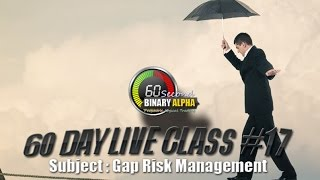 Class #17 : Gap Risk Management : 60 Second Binary Options Trading