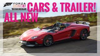 Forza Horizon 4 Fortune Island Trailer + All 10 New DLC Cars!