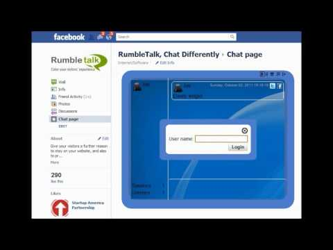 Rumbletalk - helps you add a cool chat for your website
