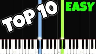 Top 10 Easy Piano Songs for the Complete Beginners Video