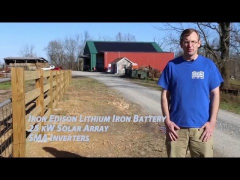 Off Grid Solar + Battery Storage Project (SMA Sunny Island & Iron Edison Lithium Iron Phosphate)