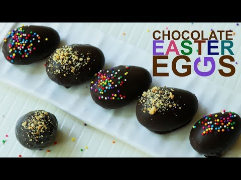 Easter Eggs With Peanut Butter Filled & Chocolate Covered