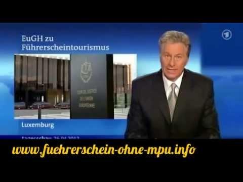 Bericht EuGH Urteil vom 26 04 2012 Ausländischer Führerschein Gültig