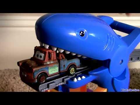 ! Shark Attack Lightning McQueen Disney Pixar Cars Thomas Railway Playset Sharknado Eats Cars fragman