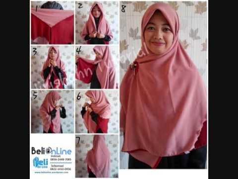 Tutorial Hijab Segi Empat Jumbo Gamis Kombinasi