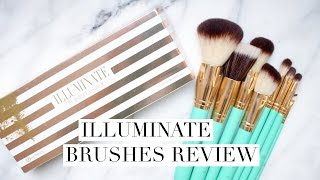 illuminate brushes review   bh cosmetics