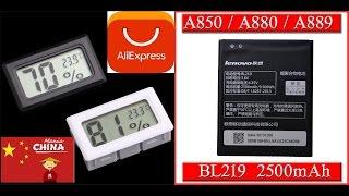 Аккумулятор для телефона Lenovo Bl219   Гигрометр  с AliExpress (АлиЭкспресс) распаковка и обзор