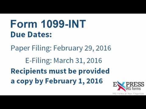 E-file IRS Form 1099-INT for Interest Income