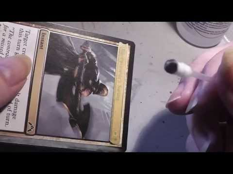 How to alter Magic Cards - Basic colour removal