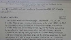 Federal Home Loan Mortgage Corporation (FHLMC, Freddie Mac) CA Real  VocabUBee.com