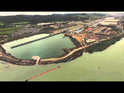 Panama Canal New Locks Meet Pacific Ocean