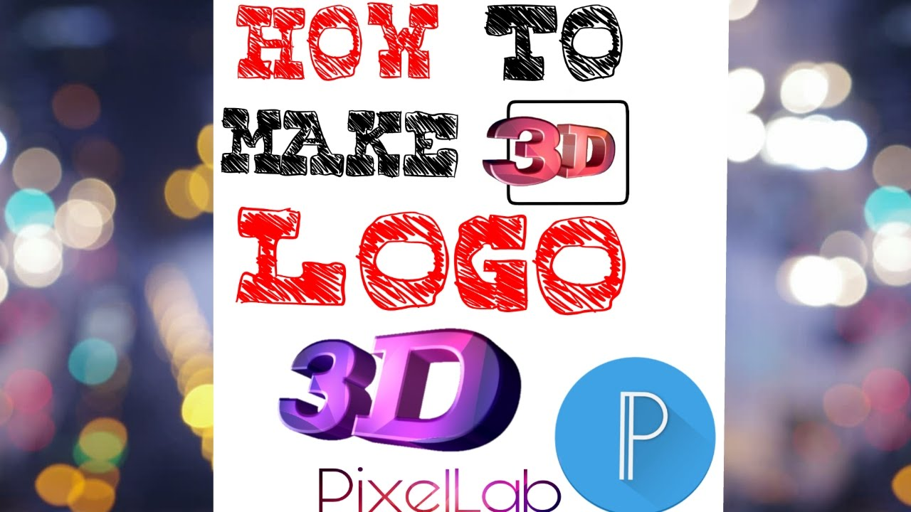 How to make 3d logo using pixellab easy way to make for Easy way to create a logo