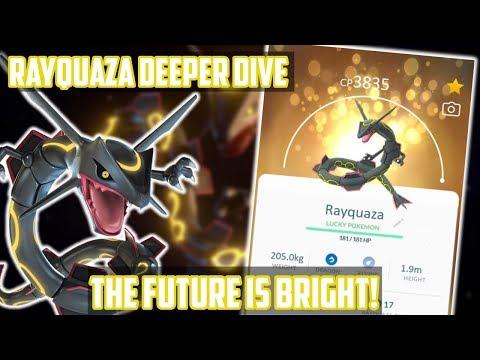 Shiny Rayquaza Deeper Dive In Pokemon GO!
