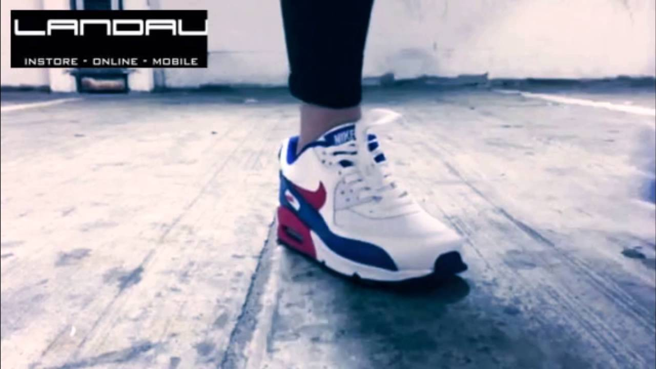 047c83a9cc20 Nike Air Max 90 White University Red Junior Trainers - from Landau Store