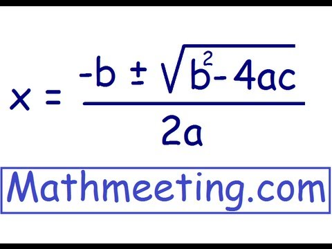 Solve Quadratic Equations Using Quadratic Formula Youtube