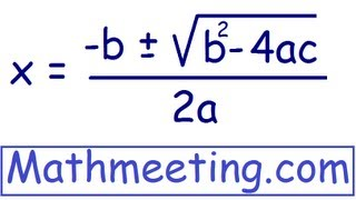 Solve Quadratic Equations using Quadratic Formula thumbnail